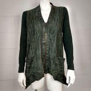 LOGO Lori Goldstein Zippered Sweater